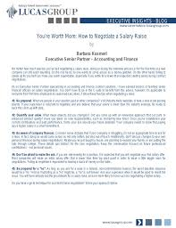 Youre Worth More How To Negotiate A Salary Raise