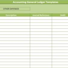 Accounting General Ledger Template Accounting General Ledger Templates Financial Management Templates