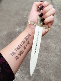 make your own temporary book inspired tattoos the winner s crime tattoo