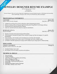 Jewelry Designer Resume Example Resumecompanion Com Resume