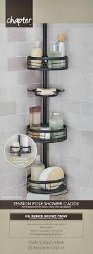 pole shower caddy oil rubbed bronze shower tension pole corner shower holder home zenith 3 shelf pole shower caddy
