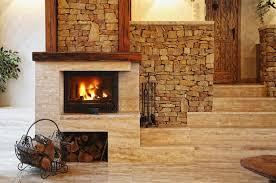 classic masonry fireplace