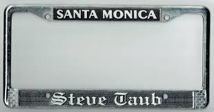 rare santa monica california steve taub porsche audi vintage license plate frame