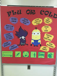 cork boards for office. Nurses Office Bulletin Board Minion Flu Vs. Cold Cork Boards For