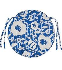 sunbrella andy cobalt round outdoor seat cushion fade stain mildew resistant hdc