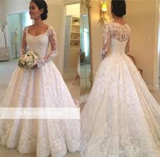 Wedding Dress Designs For Ladies Discount 2018 Vintage Country Lace Wedding Dresses With Long Sleeves Illusion Bodice Scoop Neck A Line Applique Cheap Boho Bridal Gowns Wedding Dress