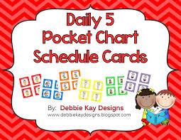 Daily 5 Pocket Chart Cards Debbie Kay Designs Daily 5 Freebie