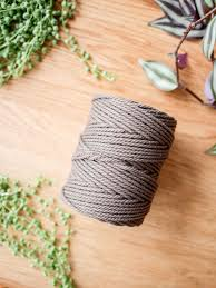 Brown cotton rope, 2.5 mm, 250 g