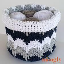 Free Crochet Basket Patterns Beauteous Bouncing Basket AllFreeCrochet