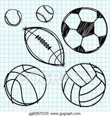 Graph Paper Draw Vector Art Sport Ball Hand Draw On Graph Paper Clipart Drawing