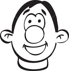 portrait of a happy cartoon face