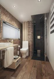 Bathroom: Awesome Bathroom With Brick Walls And Plant Ideas - Bathroom Brick  Walls