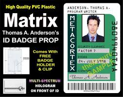 The Id Matrix Anderson's Metacortex Prop Card Thomas Etsy