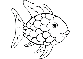 rainbow fish coloring page pdf pages free printable