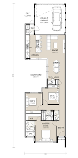 house plans for narrow lots on waterfront narrow lot house plans
