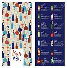 Bar Menu Template. Alcohol Menu Booklet Flyer Template With Bottles ...