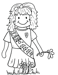 Coloring Pages Girl Scout Coloring Pages For Brownies Brownie Elf