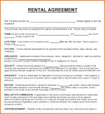 Basic Rental Agreement Template Fresh Rental Agreement Contract Template Free New Best Word