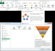 How To Create A Pyramid Chart In Excel How To Create An Excel Funnel Chart Pryor Learning Solutions