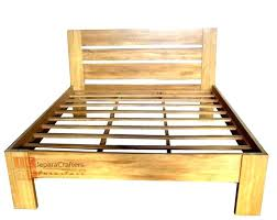 simple bed plans. Homemade Wood Bed Frame Plans Simple E