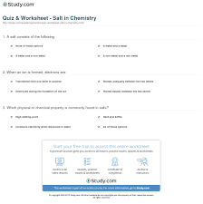 chemistry problem solver math and science done right pool  quiz worksheet salt in chemistry com print what is salt in chemistry definition formula worksheet