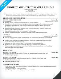 Architecture Resume Sample Architectural Resume Sample Architectural ...
