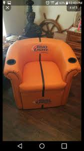 bud light football shaped chair design ideas