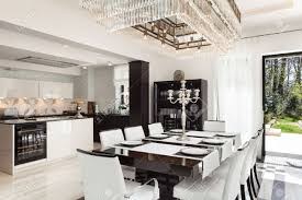 modern mansion dining room. Modern House Beautiful Interiors, Dining Room Stock Photo - 44117621 Mansion