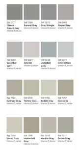 50 Shades Of Gray Color Chart Sherwin Williams Paint Colors Gray More Than 50 Shades Of