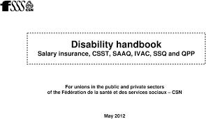 Disability Handbook Salary Insurance Csst Saaq Ivac Ssq