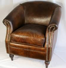 Wide Chairs Living Room 27 Wide Club Arm Chair Vintage Brown Cigar Italian Leather