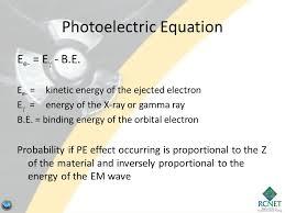 binding energy of that electron photoelectric equation