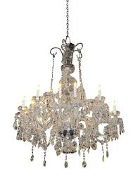 irish 1960s elegant waterford crystal chandelier with 15 lights for