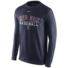 Long Sleeve Sox Boston T Shirt Red
