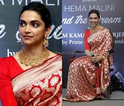 for red cotton sarees silver jewellery would elevate your saree style