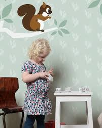Mural Boom En Eekhoorn Groen Met Naam Tinklecherry