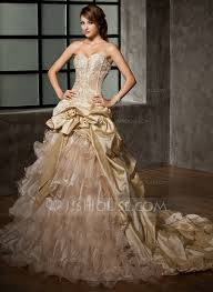 ball gown sweetheart cathedral train taffeta organza wedding dress