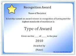 Certificate Award Template Word Student Attendance