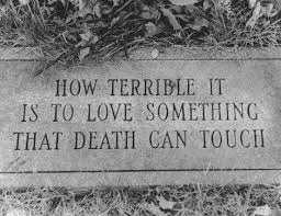 Death And Love Quotes Inspiration How Terrible It Is To Love Something That Death Can Touch Tumblr