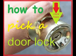 how to pick a door lock how to open lock without key