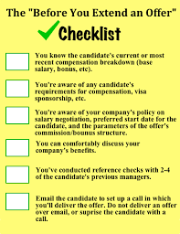 Employer Interview Checklist Guide To Extending Job Offers Top Talent Cant Refuse Openview Labs