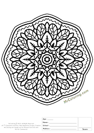 Printable Mandala Online Coloring Pages And
