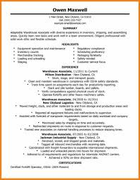 Warehouse Associate Resume Sample Warehouse Inventory Resume Sle 100 Images Warehouse Resume Sle 96