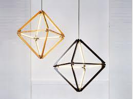 led wooden pendant lamp diamond pendant lamp by stickbulb