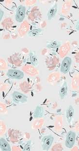 cute flower pattern wallpaper. Modren Wallpaper Pastel Floral Pattern IPhone Wallpaper On Cute Flower Pattern Wallpaper