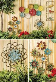 Another great way to decorate your garden fence.