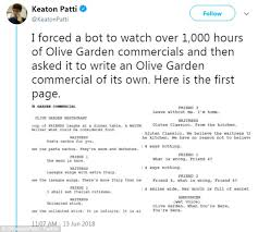 premise comedy writer keaton patti said he trained a bot to write the script
