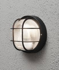 Caged Bulkhead Exterior Wall Light IP Rated - Exterior bulkhead lights