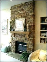 faux fireplace rock