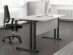 buronomic c1 single straight desk with modesty panel